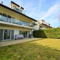 Sublime appartement avec vue lac et montagnes / Terrasse avec jardin
