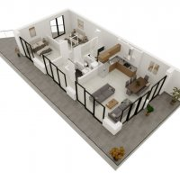 3.5 rooms penthouse in a new promotion