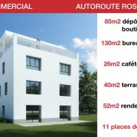 LOCAUX COMMERCIAUX - AUTOROUTE - DEPOT - BUREAU - ATTIQUE DE RENDEMENT