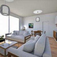 Appartement neuf de 2,5 pièces avec jardin.