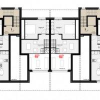 3.5 pces dernier étage N/O