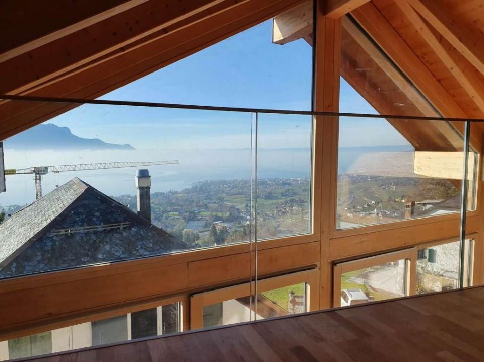 Belle bâtisse rénovée de 8.5p // 5 CHB // Jardin - Vue lac montagnes